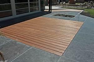 Tapis D Extérieur Pour Terrasse : tapis bois sur terrasse en pierre bleue r alisation woodstone project ~ Teatrodelosmanantiales.com Idées de Décoration