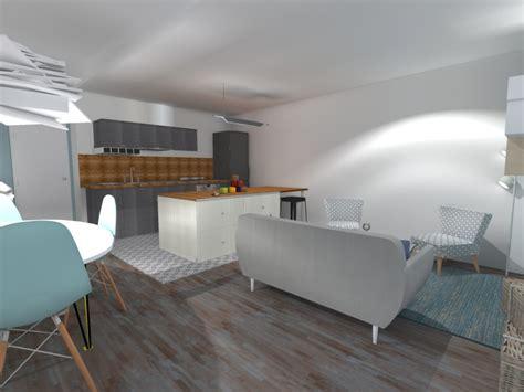 amenager cuisine ouverte sur salon cuisine salon 20m2 cuisine en image