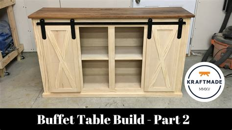buffet table build part  sliding barn door hardware