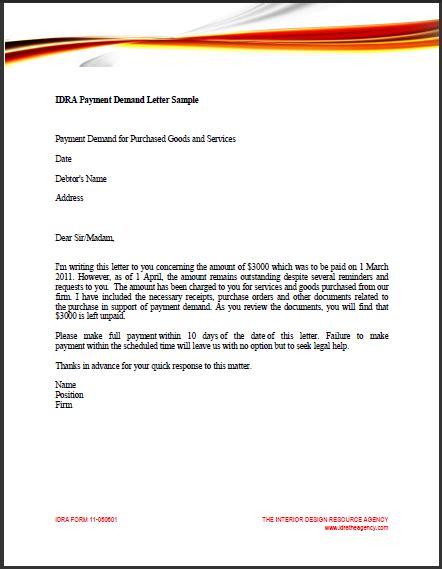 sample business letter demand payment sample business letter