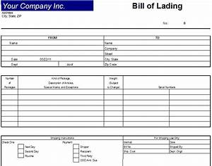 blank bill of lading form pdf baskanidaico With vics bill of lading template