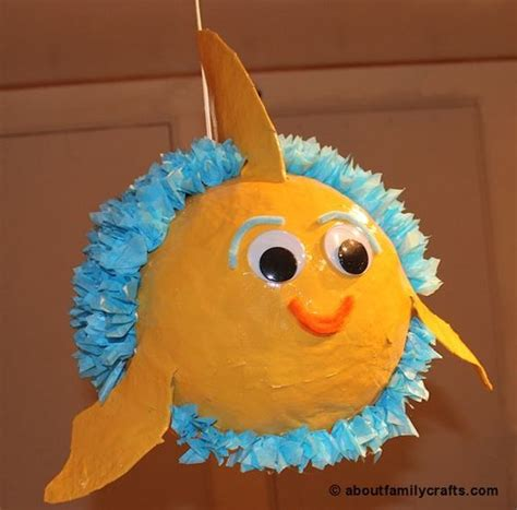 paper mache pinata make a paper mache pinata fish about family crafts vbs 2016 pinterest crafts paper and