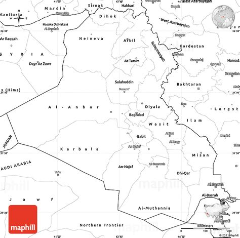 Blank Simple Map Of Iraq