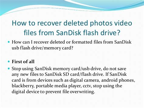 recover deleted files  sandisk usb flash drive