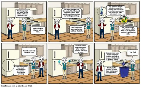 kitchen safetysanitation rules storyboard  karant