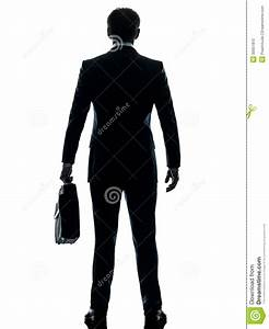 Business Man Standing Rear View Silhouette Royalty Free ...