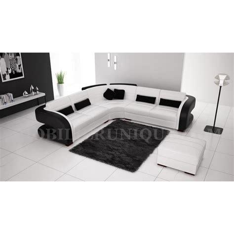 vente de canapé d angle pas cher canapé d 39 angle cuir blanc et noir design pas cher achat