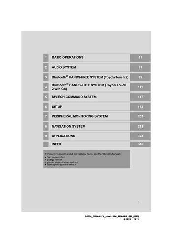 toyota rav hybrid navigation manual   pages