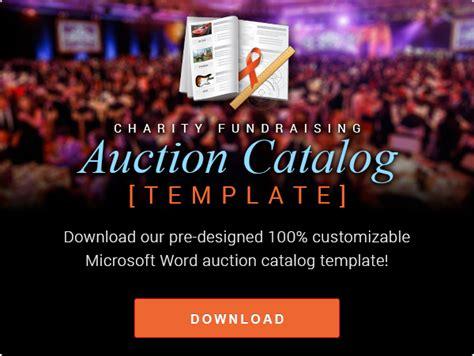 auction catalog templates silent auction school