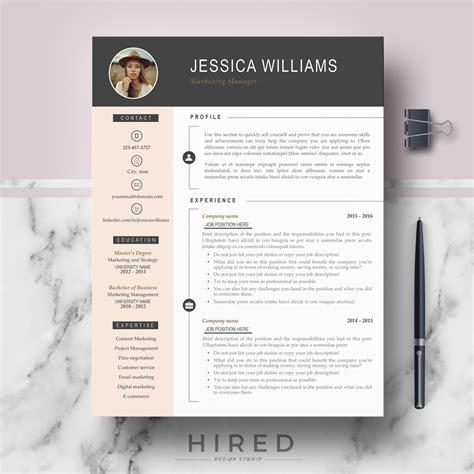 professional modern resume template jessica  behance