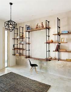 Etagere Metal Et Bois : etagere bois metal design ~ Teatrodelosmanantiales.com Idées de Décoration
