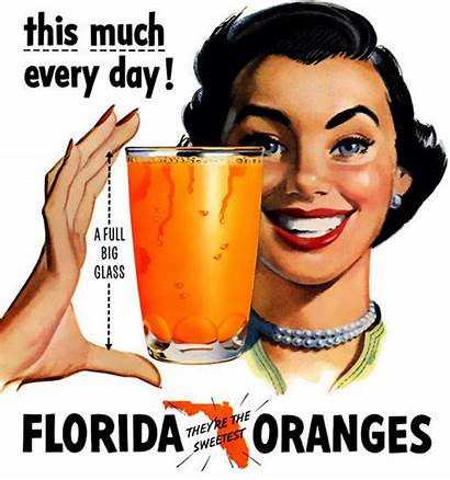 Florida Ads 1950 Advertising Juice Orange 1950s
