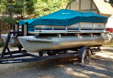 Used Pontoon Boats Kamloops by 16 Foot Pontoon Boat Sea By Godfrey Marine 2000