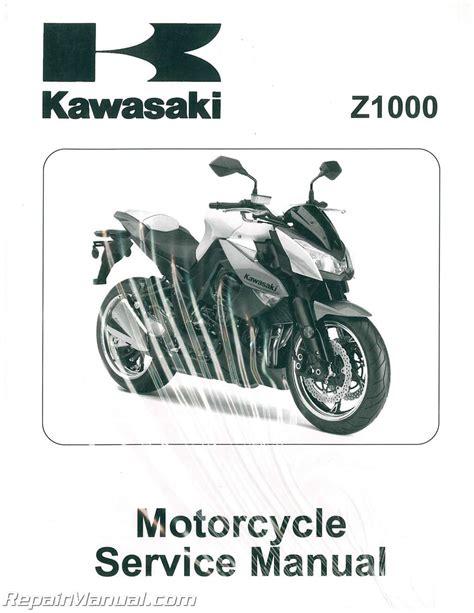 Kawasaki Motorcycle Service by 2010 Z1000 Kawasaki Zr1000d Motorcycle Service Manual