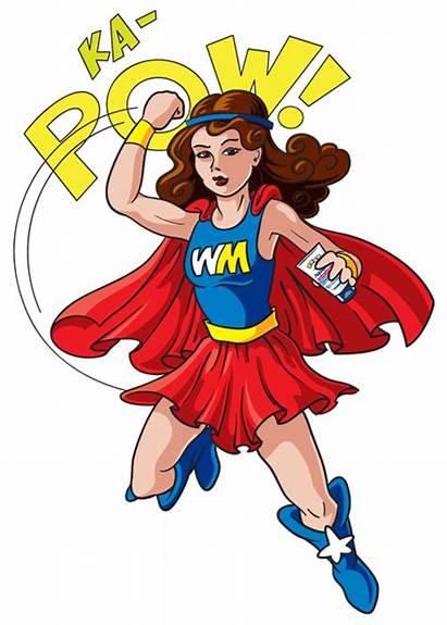 Super Clipart Mom Wonder Mum Hero Ples