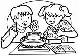 Cooking Clipart Library Colouring Coloring Class Pages sketch template