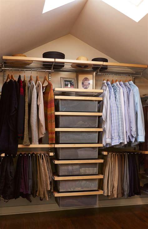 small walk  closet organization tips   ideas