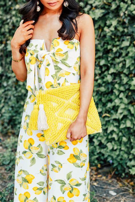 life   lemons lemon print jumpsuit color