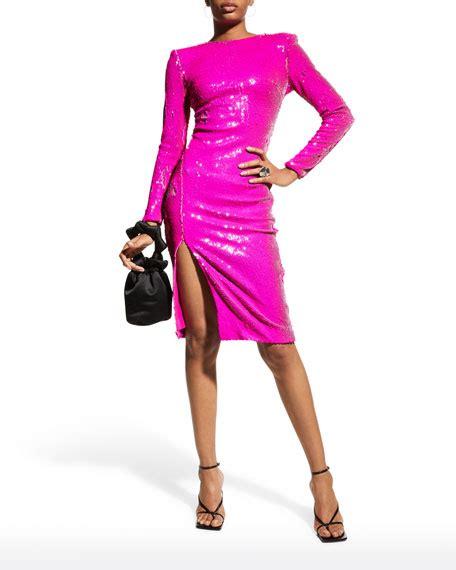 Dress The Population Natalie Sequin Long-Sleeve Sheath ...