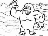 Yeti Coloring Pages Printable Disney sketch template