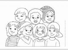Diversidad cultural para colorear Imagui
