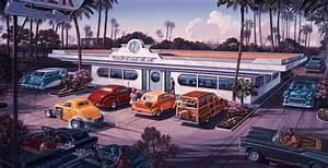 American Diner Wallpaper : retro murals 1950 39 s murals vintage wall murals ~ Orissabook.com Haus und Dekorationen