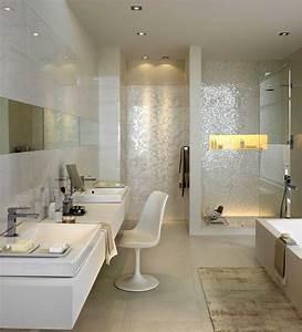 Mosaik Fliesen Dusche : gemauerte dusche mit glas und beleuchteter nische sowie mosaik b der in 2019 pinterest ~ Orissabook.com Haus und Dekorationen
