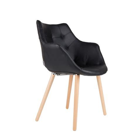 chaises cuir chaise lounge twelve skin façon cuir noir ou blanc zuiver