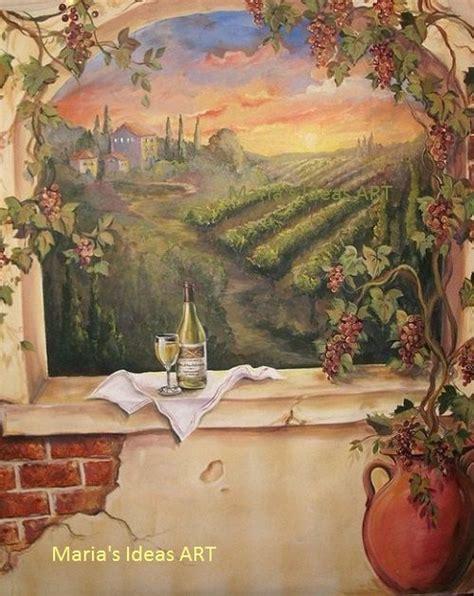 custom murals italian vineyard landscape mural wine