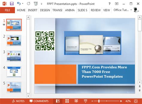 add template to powerpoint insert qr codes in powerpoint with qr4office add in