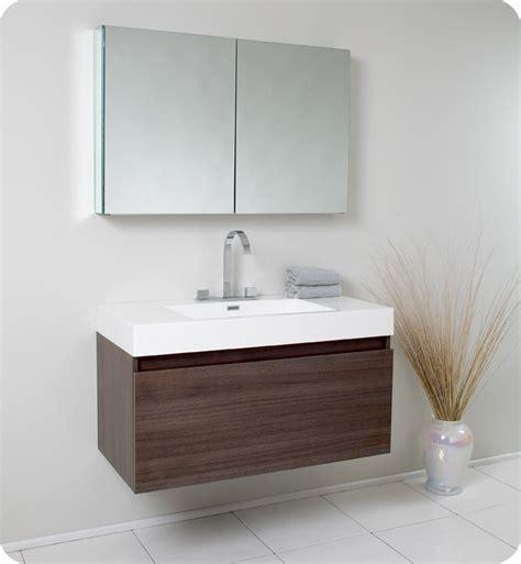 Fresca Fvn8010go Mezzo 39 Inch Gray Oak Modern Bathroom
