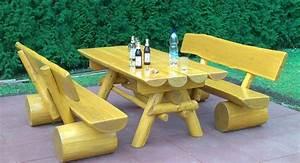 Gartenmöbel Set Aus Holz : gartenm bel set mit gartentisch und 2 gartenb nken aus holz ~ Whattoseeinmadrid.com Haus und Dekorationen