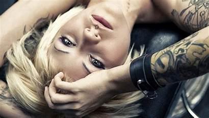 Tattoos Blonde Piercing Tattoo Hair Short Wallpapers