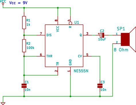 555 audio tone siren circuit for beginners in electronics