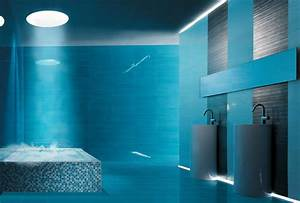 carrelage salle de bain bleu turquoise salles de bains With carrelage bleu turquoise salle de bain