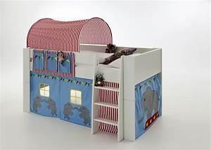 Tunnel Für Hochbett : hochbett kinderbett zirkus blau tunnel vorhang kinderzimmer kiefer massiv baby kinder ~ Orissabook.com Haus und Dekorationen