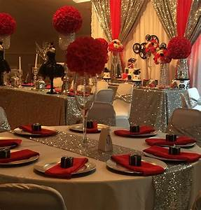 Hollywood quinceanera party ideas birthdays sweet 16 for Simple table decoration ideas for great celebrations
