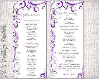 ceremony booklet  purple border