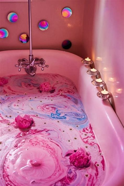 bath pink  beauty image  pink aesthetic pink