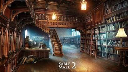Library Fantasy Magic Wallpapers Maze Desktop Biblioteca