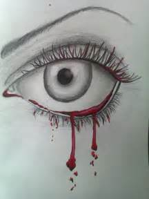 Drawing Crying Eyes Tears Blood