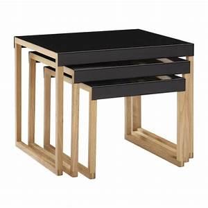 Table D Appoint Gigogne : kilo tables d 39 appoint noir bois m tal habitat ~ Teatrodelosmanantiales.com Idées de Décoration