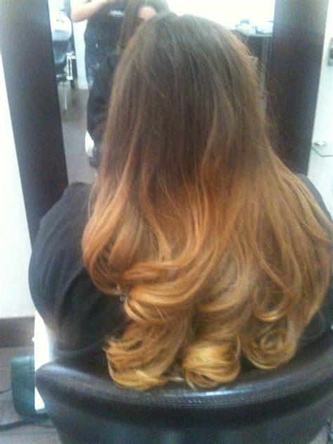 Ombre Hair Brown To Blonde Dip Dye Hair And Beauty