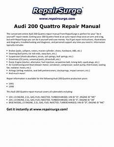 Audi 200 Quattro Repair Manual 1990