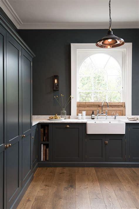 dark grey shaker cabinets 27 moody dark kitchen décor ideas digsdigs