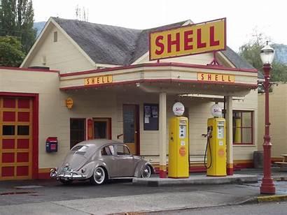 Station Gas Shell Essence Stations Service Garage