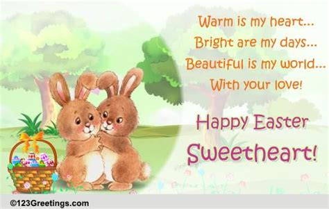 happy easter sweetheart  love ecards greeting cards