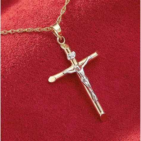 10k Gold Crucifix Necklace - 211906, Jewelry at Sportsman