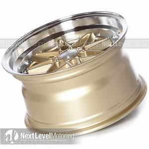 Circuit Performance Wheels  Cp24 15x8 4x100 Gloss Gold  Machined Rims Et25