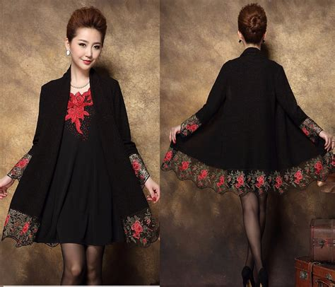 style new year dresses embroidered peony dress autumn 2016 new china style fashion women embroidery